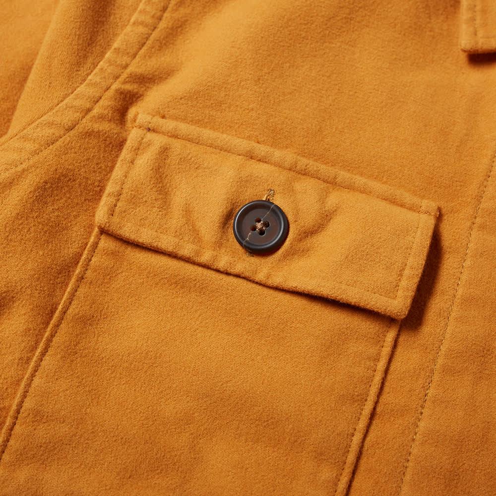 Universal Works Moleskin Dockside Overshirt - Light Rust