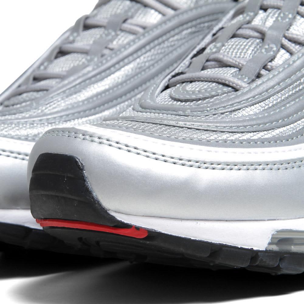 Nike Air Max '97   - Metallic Silver & Varsity Red