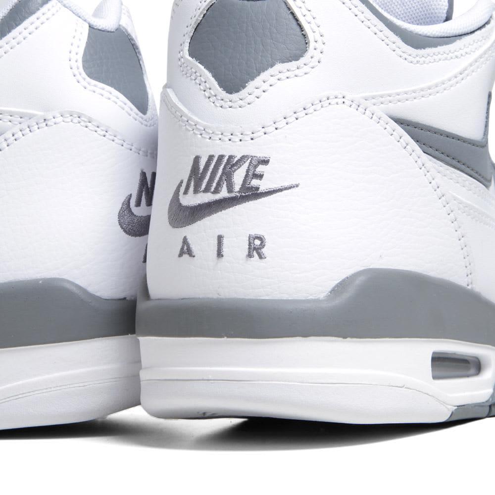 Nike Air Flight 89 - White & Total Crimson