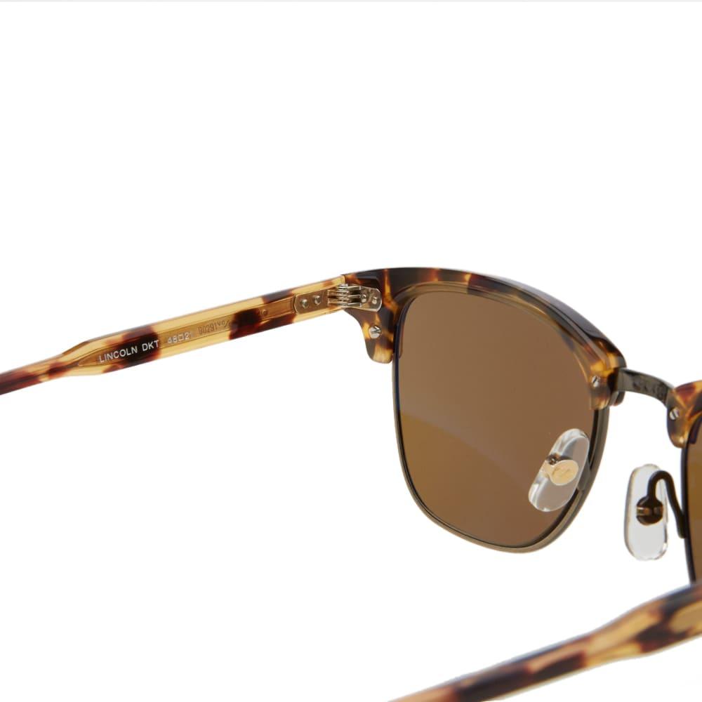 Garrett Leight Lincoln Sunglasses - Dark Tortoise & Pure Brown