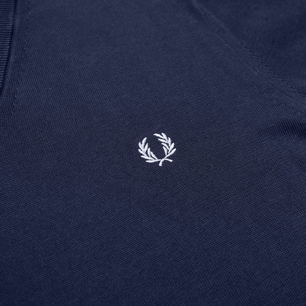 Fred Perry Classic V-Neck Knit - Deep Carbon