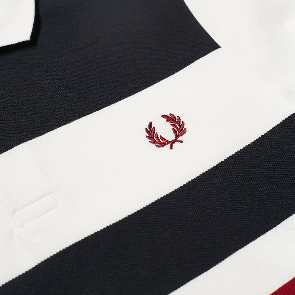 Fred Perry Tape Detail Polo - Snow White