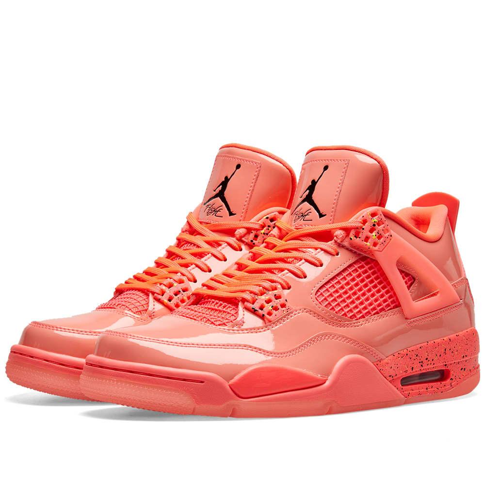 Air Jordan 4 Retro W Hot Punch, Black \u0026