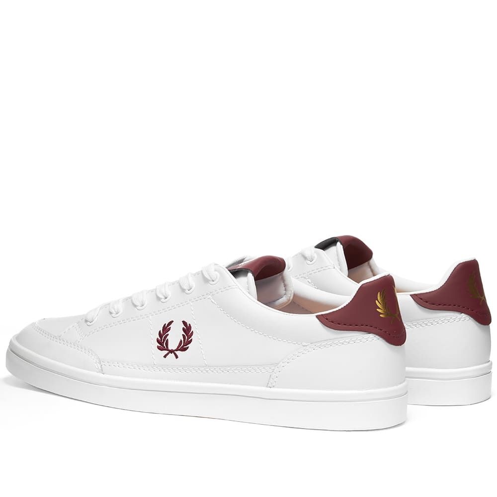 Fred Perry Deuce Leather Sneaker - White & Port
