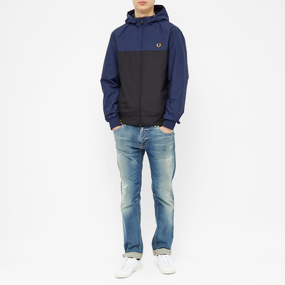 Fred Perry Colour Block Hooded Brentham Jacket - Carbon Blue