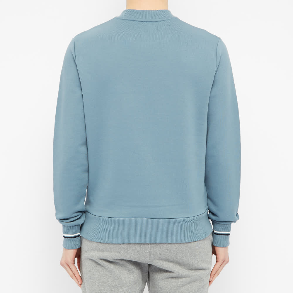Fred Perry Tipped Cuff Crew Sweat - Blue Slate