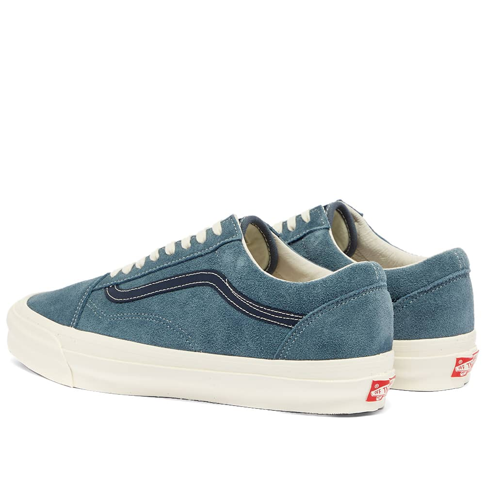 Mens shoes Vans OG Old Skool LX (Suede) Blue/ Mirage Blue