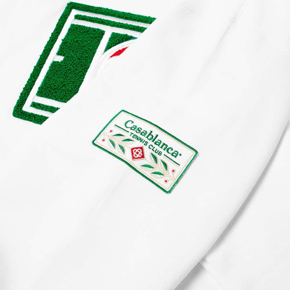 Casablanca Tennis Court Chenille Crew Sweat - White