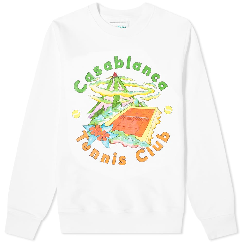 Casablanca Tennis Club Island Crew Sweat - White