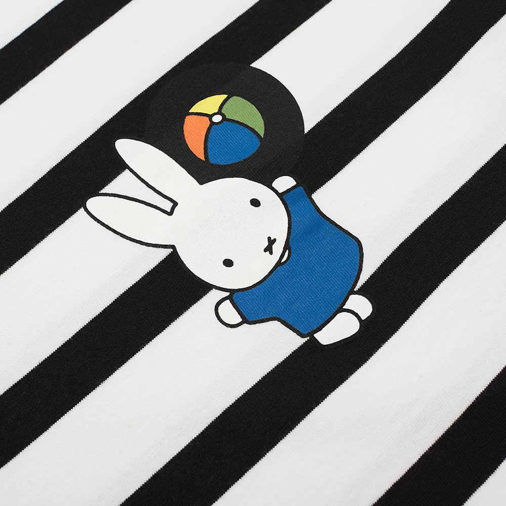 Pop Trading Company x Miffy Long Sleeve Back Logo Tee - Black & White