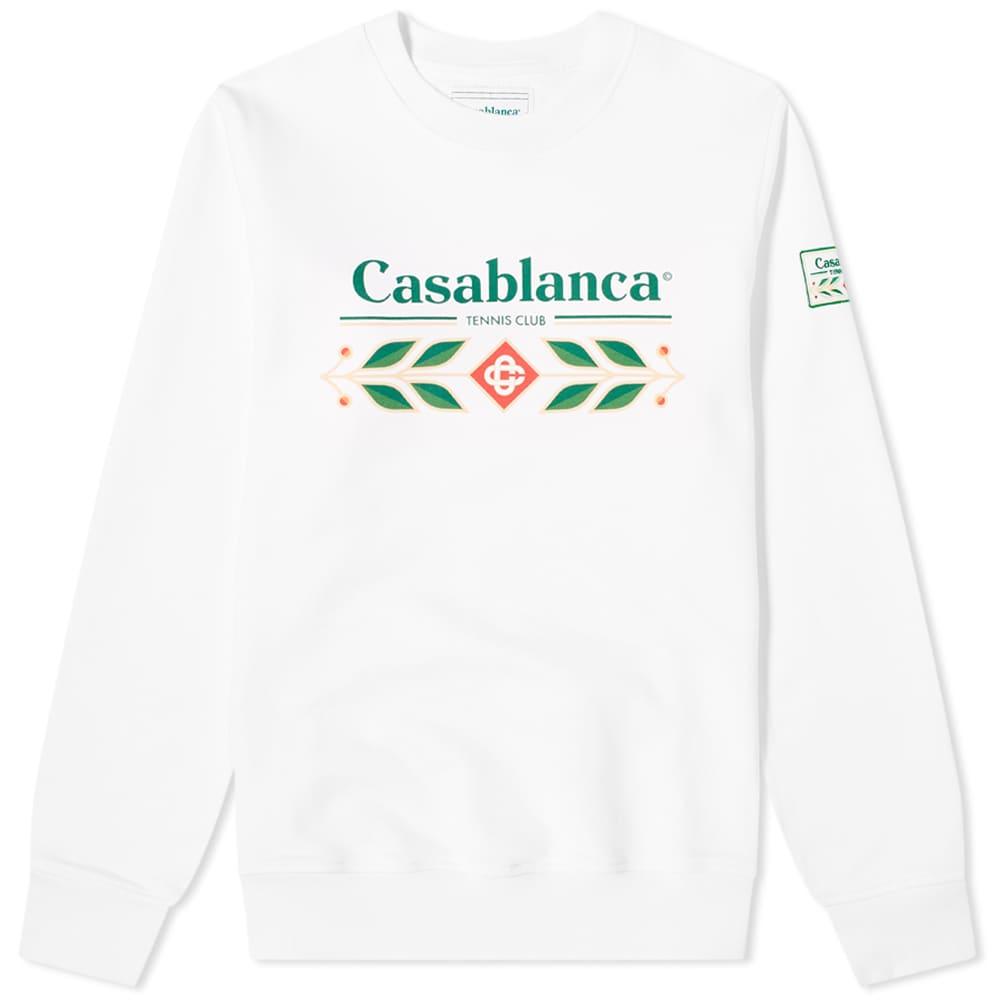Casablanca Laurel Printed Sweat - White