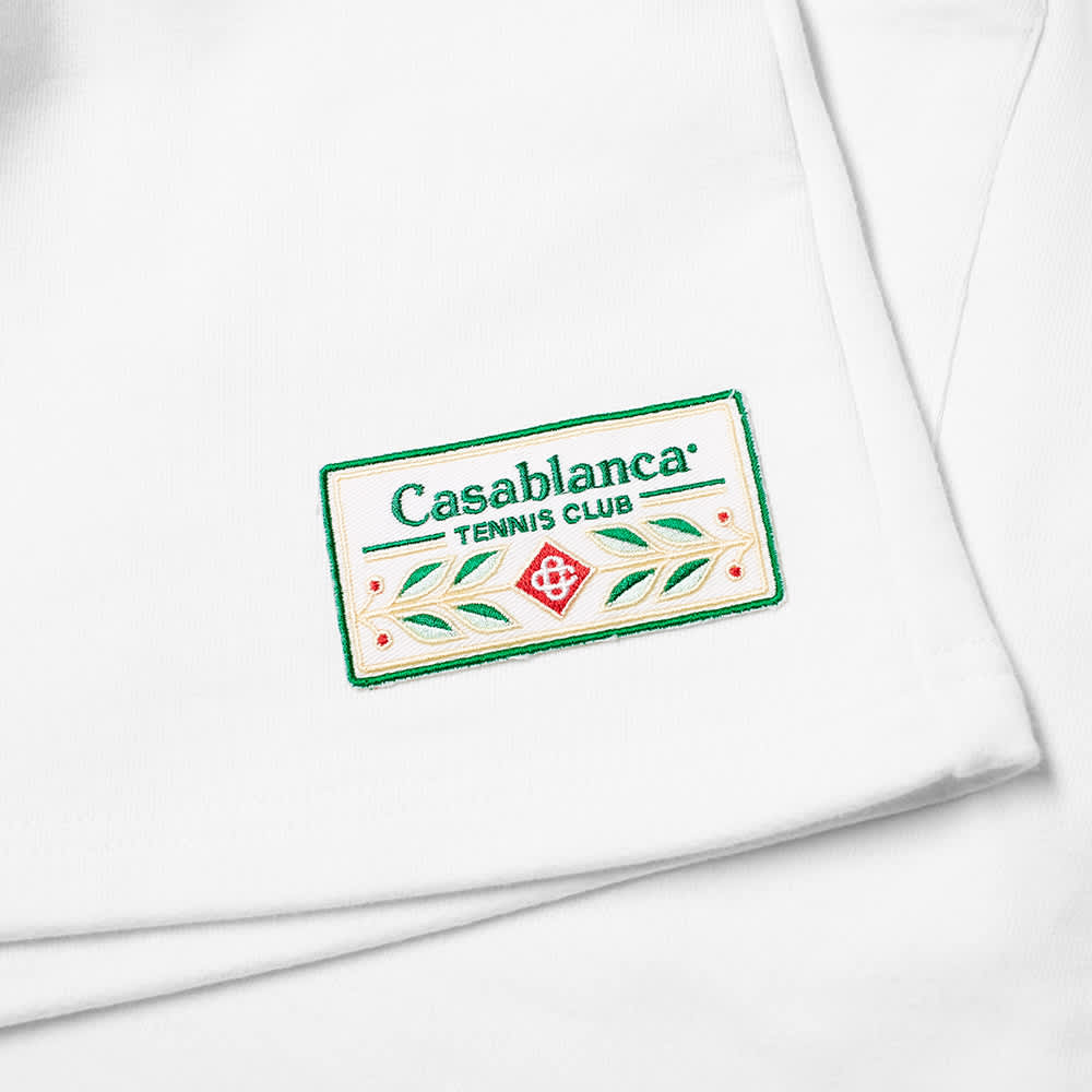 Casablanca Tennis Club Icon Embroidered Jersey Short - White