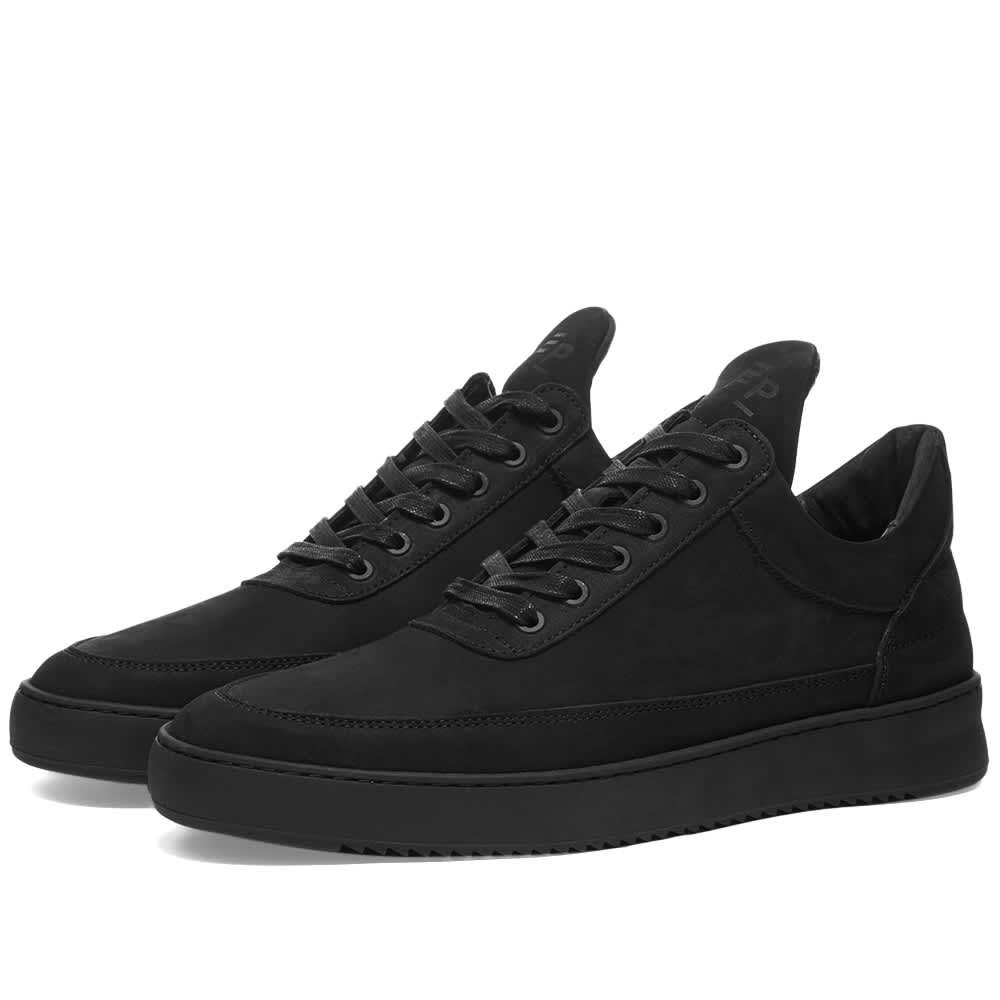 Filling Pieces Low Top Ripple Tonal Sneaker - Black
