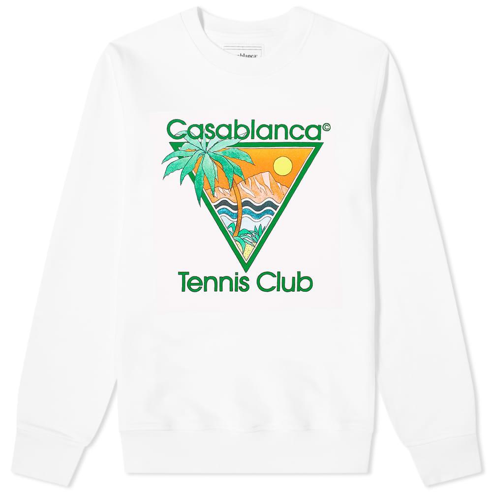 Casablanca Tennis Club Crew Sweat - White