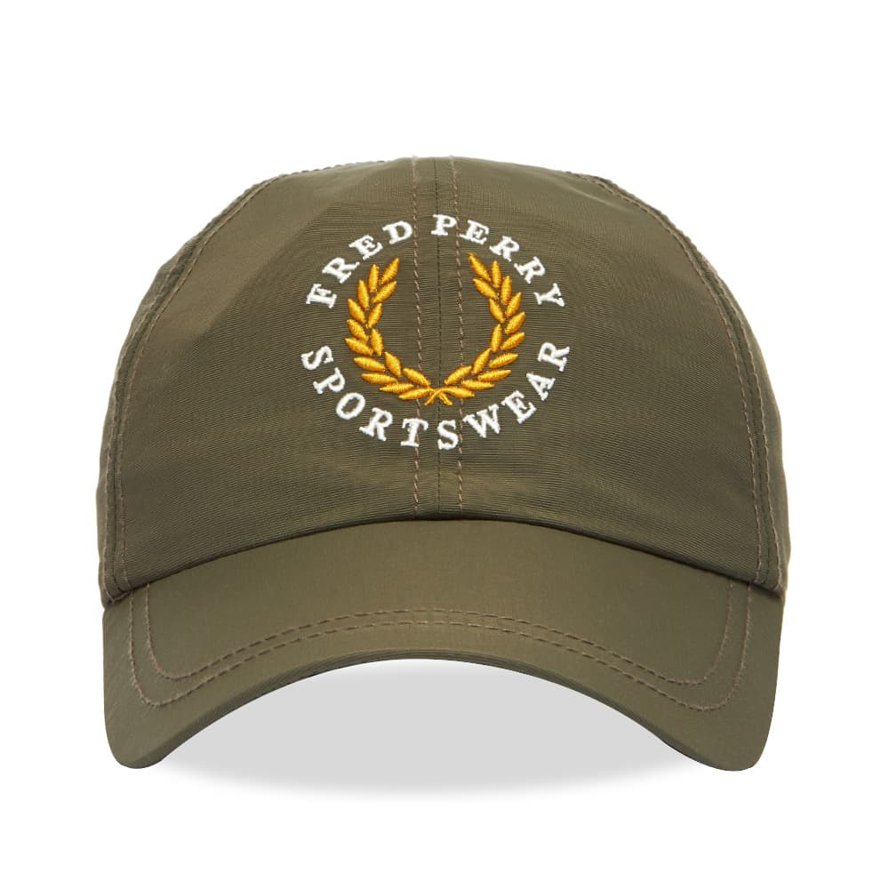 Fred Perry Embroidered Logo Baseball Cap - Military Green