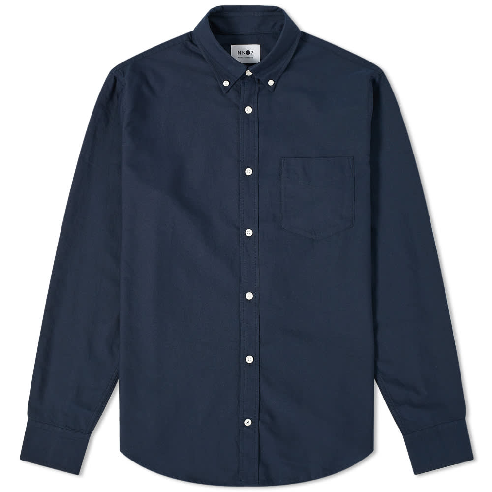 NN07 Levon Button Down Oxford Shirt - Navy Blue
