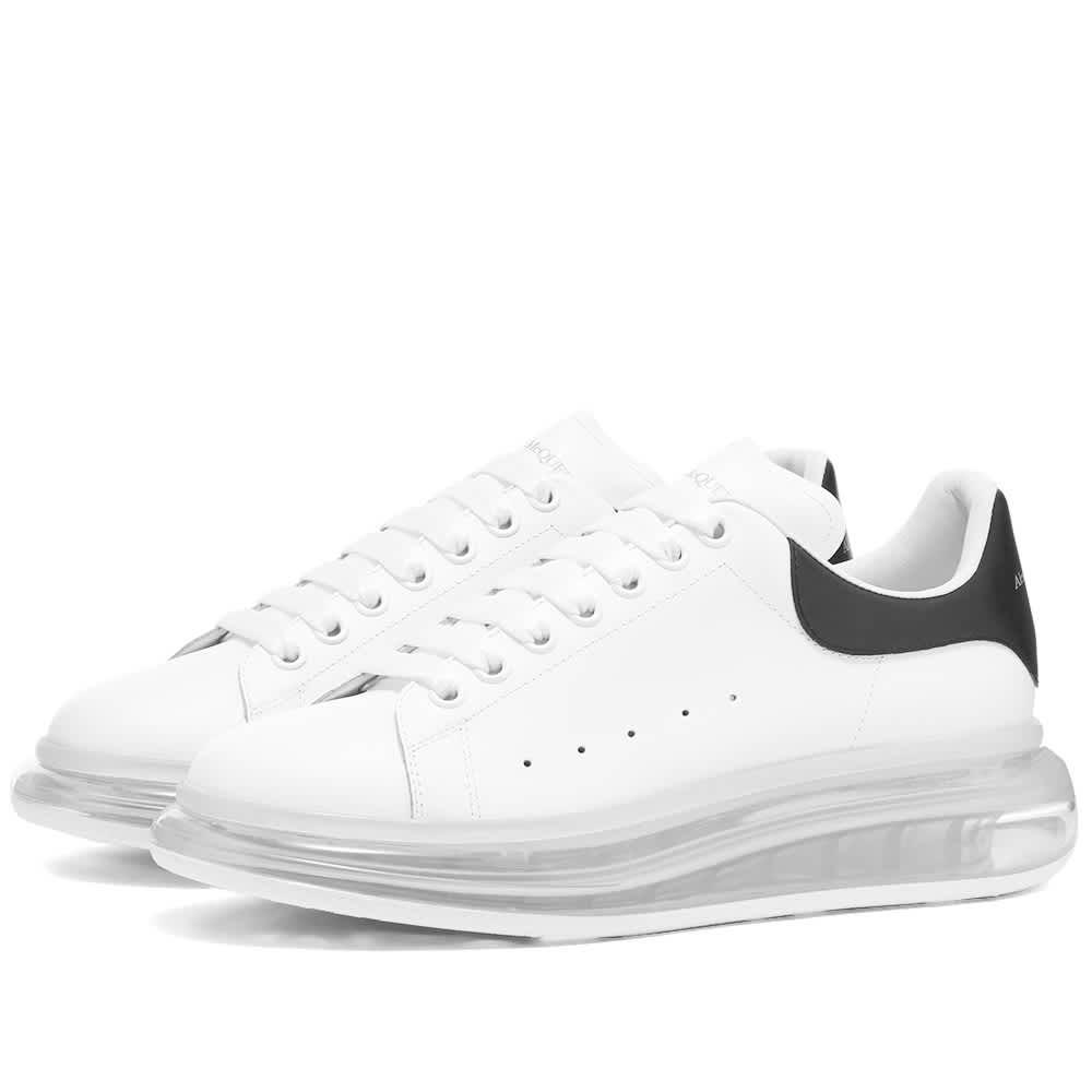 Alexander McQueen Air Bubble Wedge Sole Sneaker - White & Black