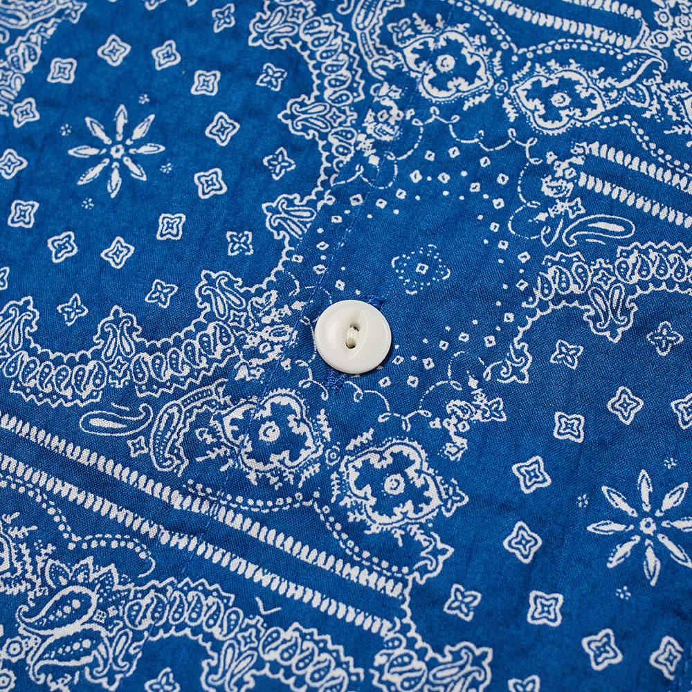 YMC Malick Bandana Print Shirt - Blue