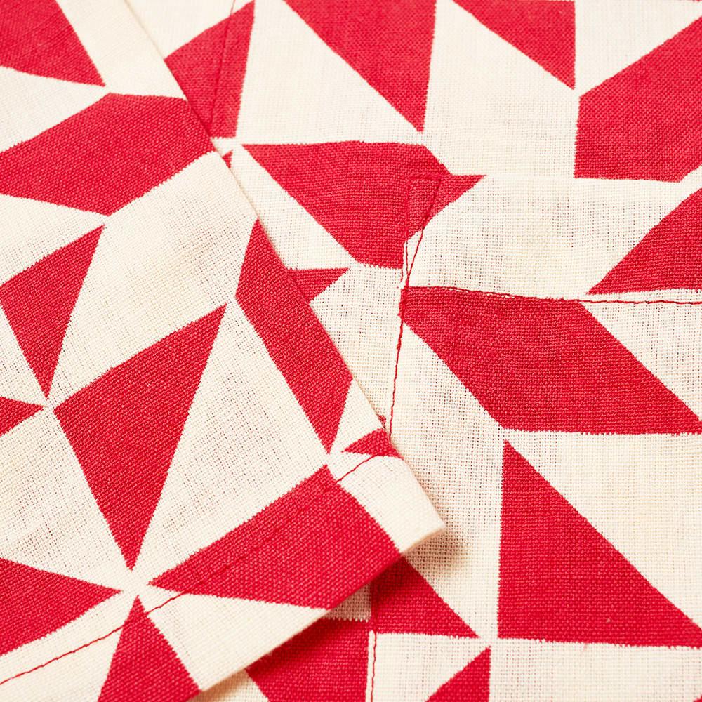 YMC Mays Printed Vacation Shirt - Red