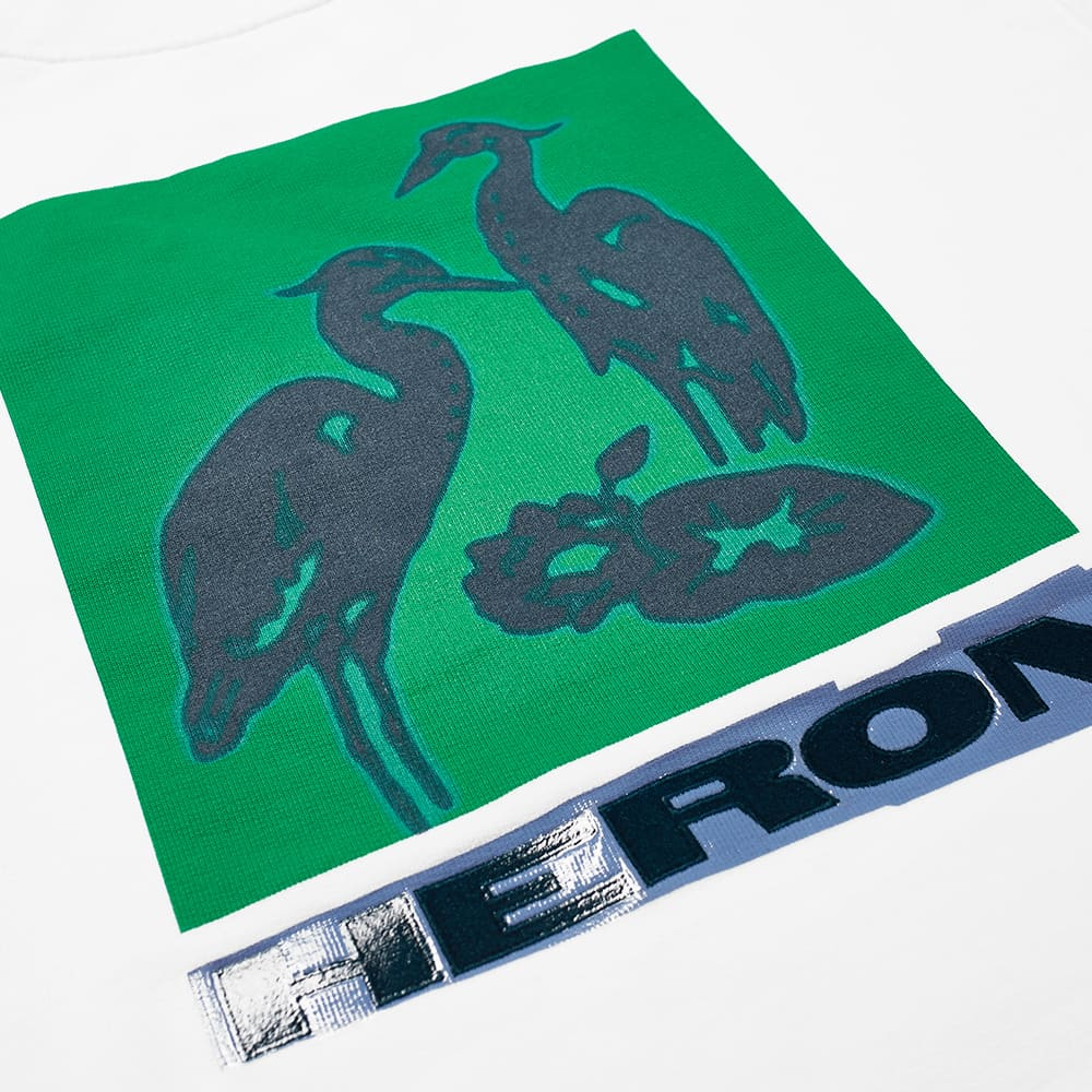 Heron Preston Oversized Herons Tape Detail Sweat - White
