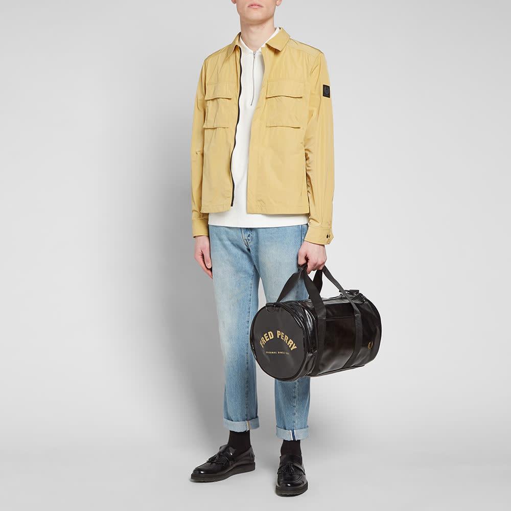 Fred Perry Classic Barrel Bag - Black & Gold