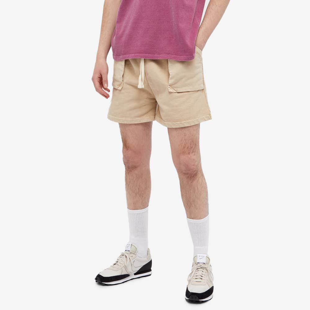 Val Kristopher Logo Sweat Short - Washed Oatmeal