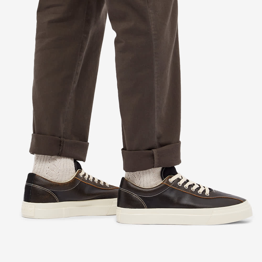 Stepney Workers Club Dellow Crack Leather Sneaker - Black