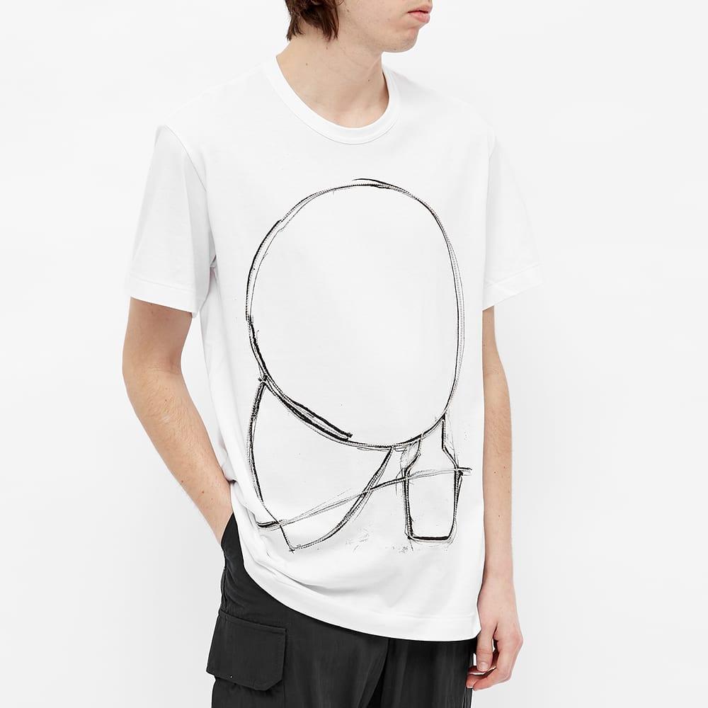 Comme des Garcons Homme Plus Chain Print Tee - White