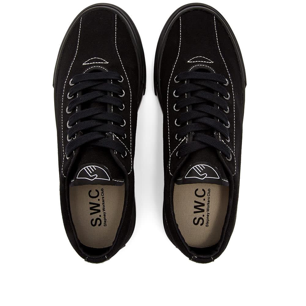 Stepney Workers Club   Dellow Canvas Sneaker - Matt Black