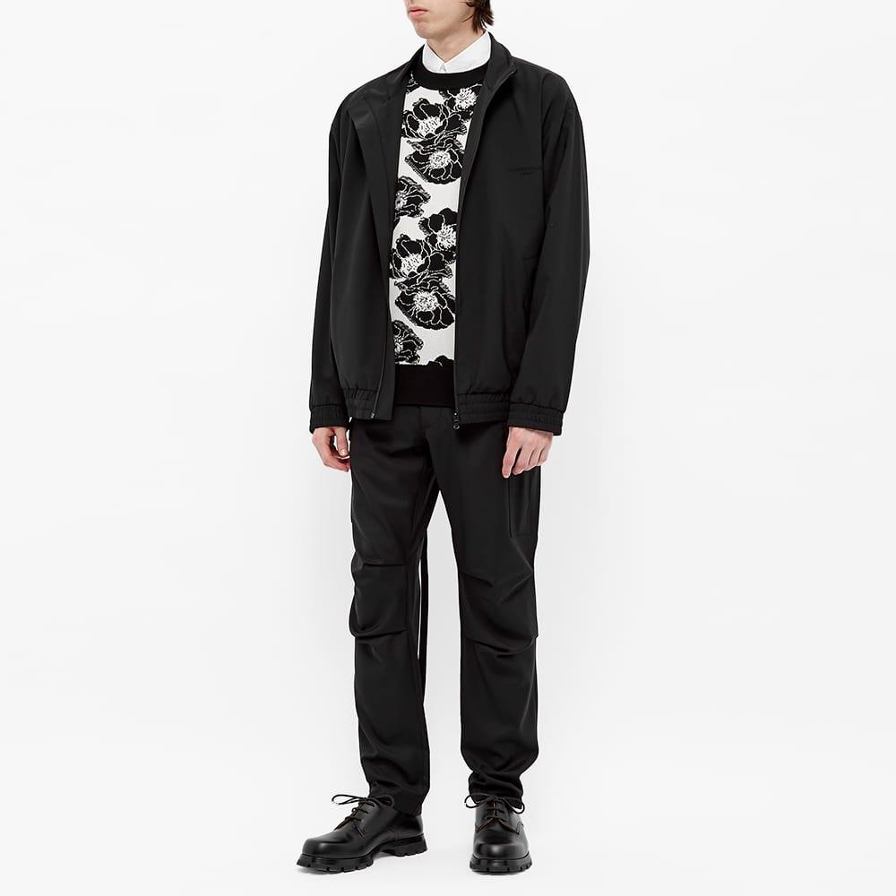 4SDesigns Floral Crew Knit - Black Floral Jacquard