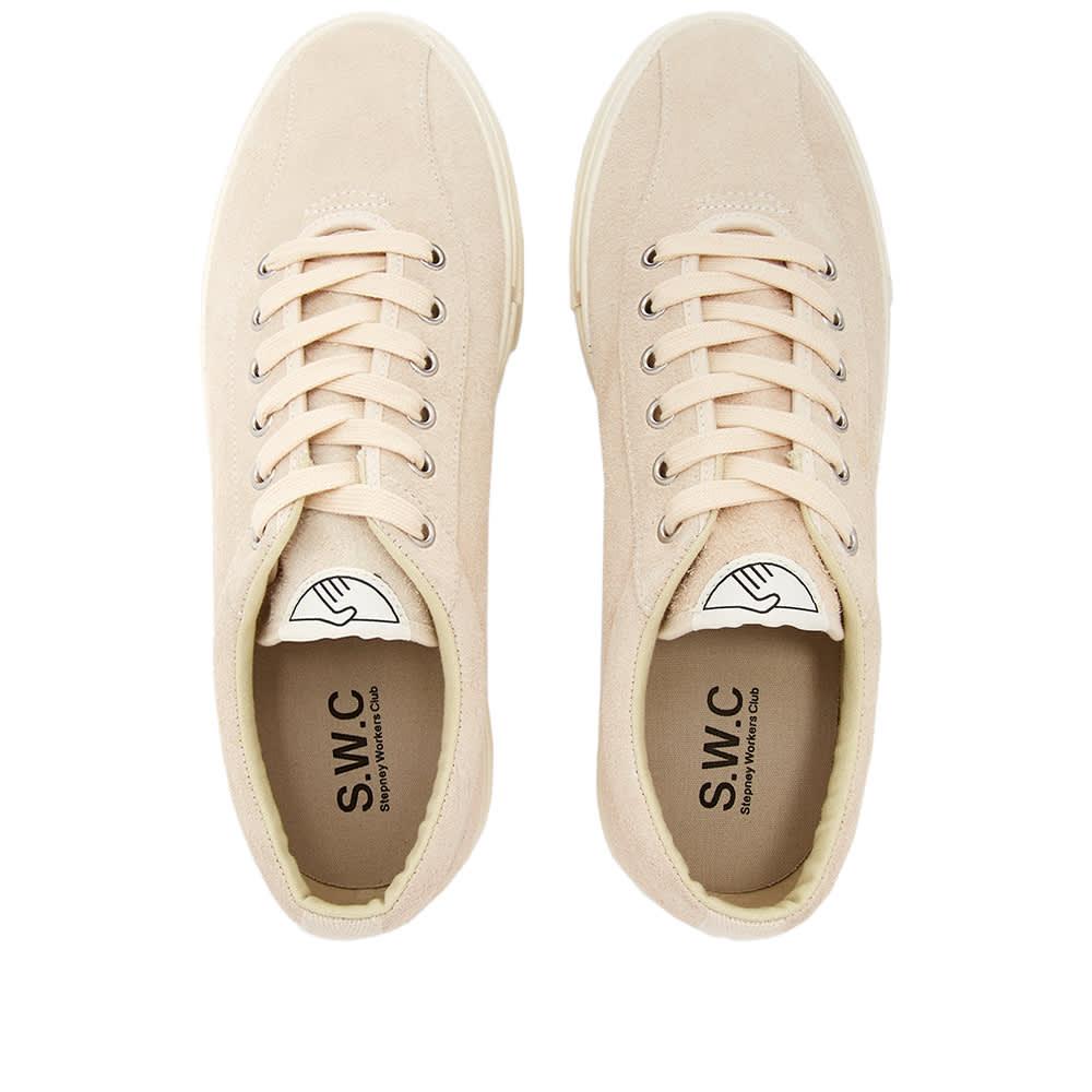 Stepney Workers Club Dellow Hairy Suede Sneaker - Ecru