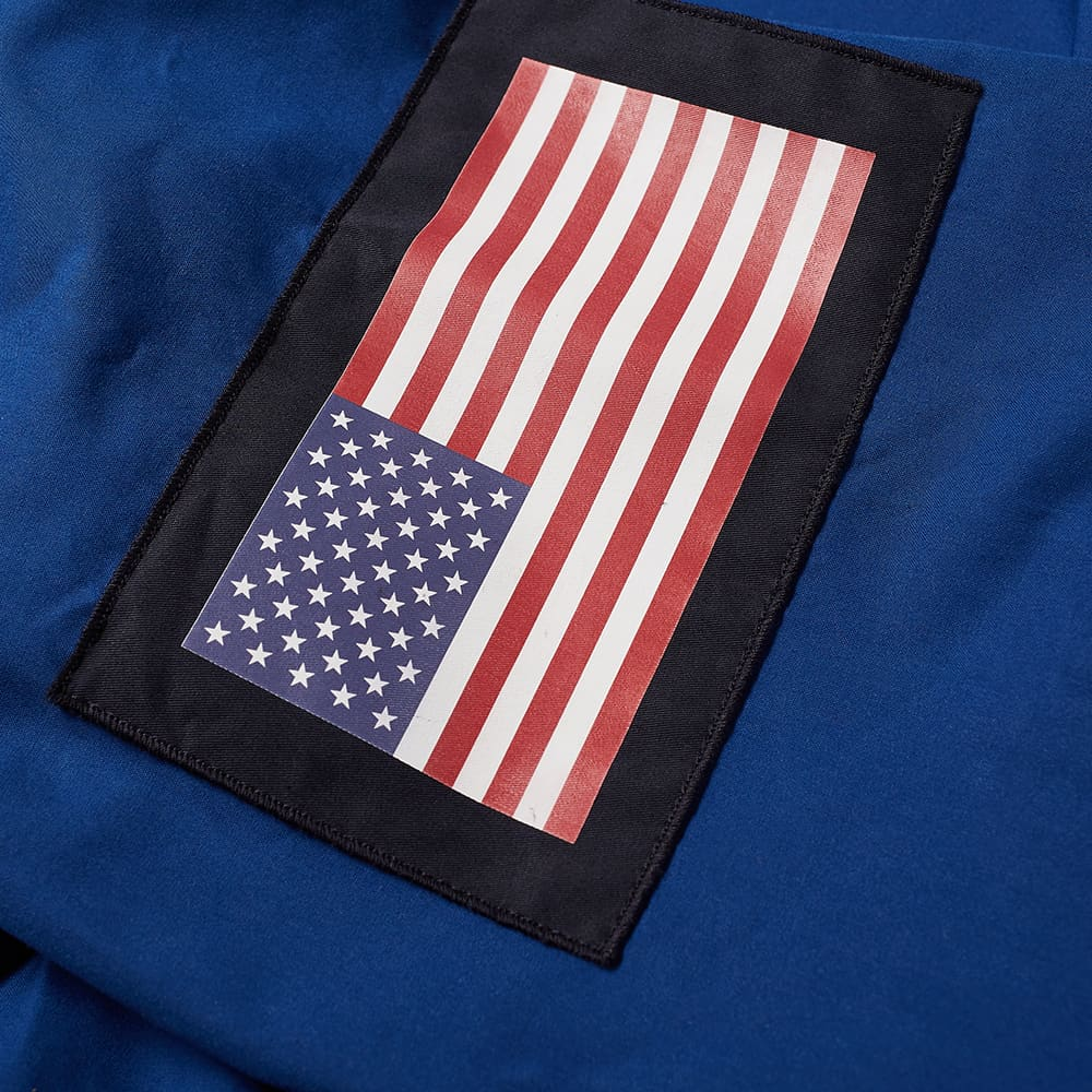 4SDesigns Flag Patch Ventile Crew Neck - Royal Blue
