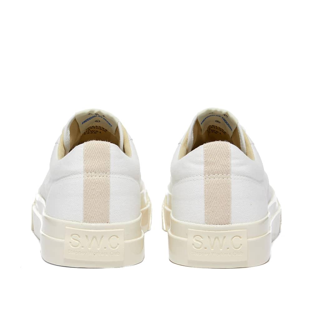 Stepney Workers Club Dellow Canvas Sneaker - White & Ecru Lining
