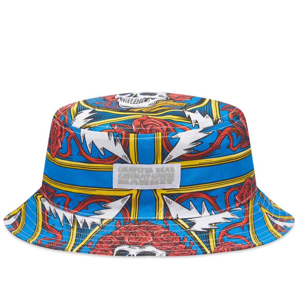 Chinatown Market x GD Reversible Border Bandana Bucket Hat - Multi