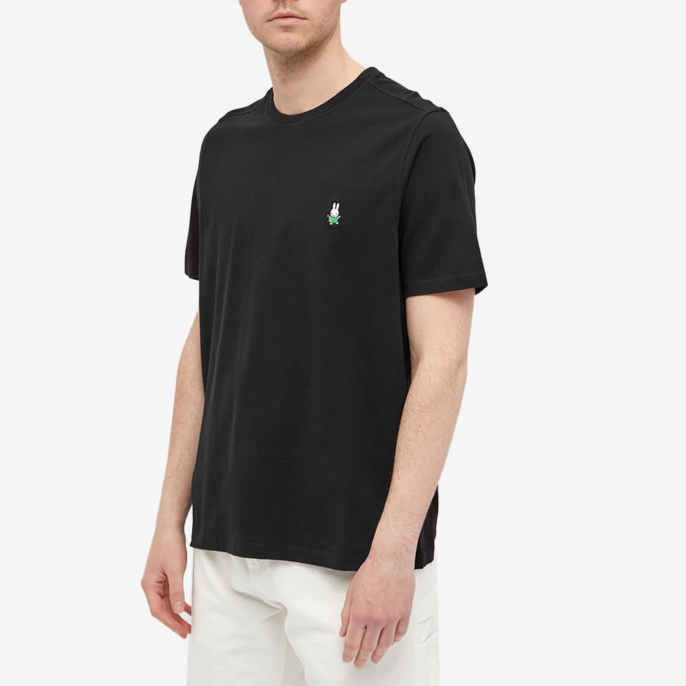 Pop Trading Company x Miffy Embroidered Tee - Black