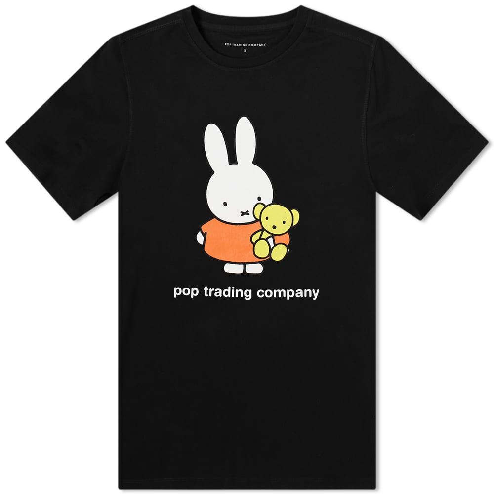 POP Trading Company x Miffy Bear Tee - Black
