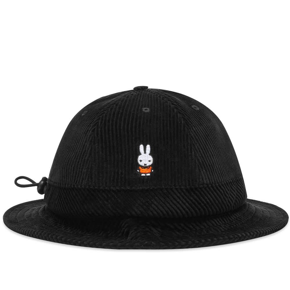 Pop Trading Company x Miffy Cord Bell Hat - Black
