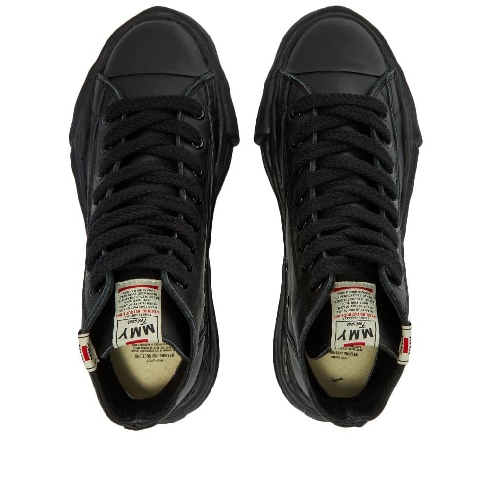 Maison MIHARA YASUHIRO Original Sole Leather Hi-Top Sneaker - Black & Black