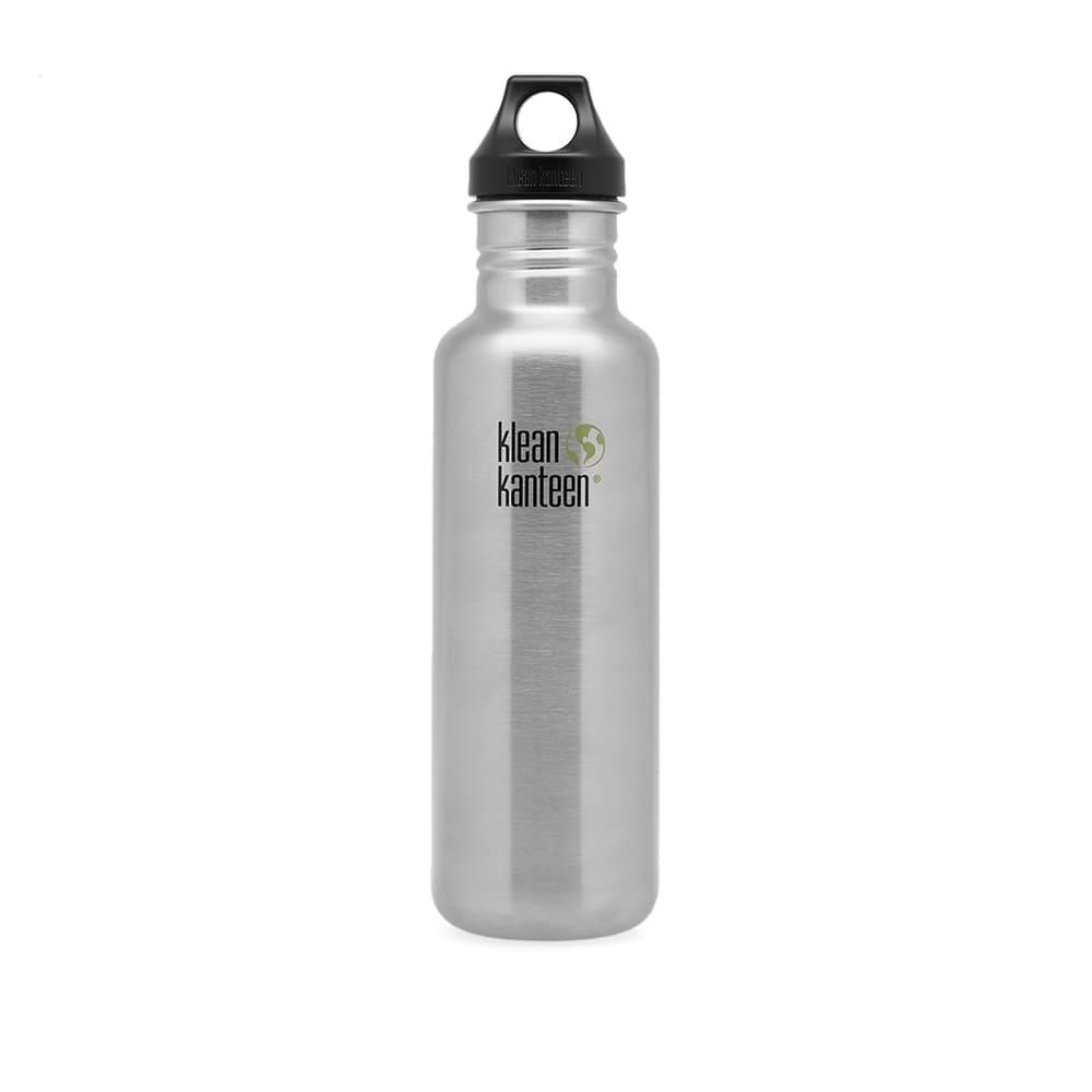 Klean Kanteen Classic Single Wall Loop Bottle - Brushed Stainless 800ml