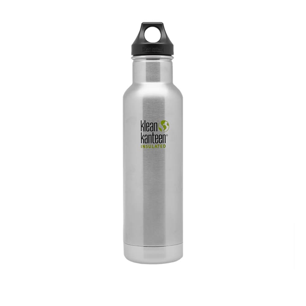 Klean Kanteen Vacuum Insulated Loop Bottle - Brushed Stainless 592ml