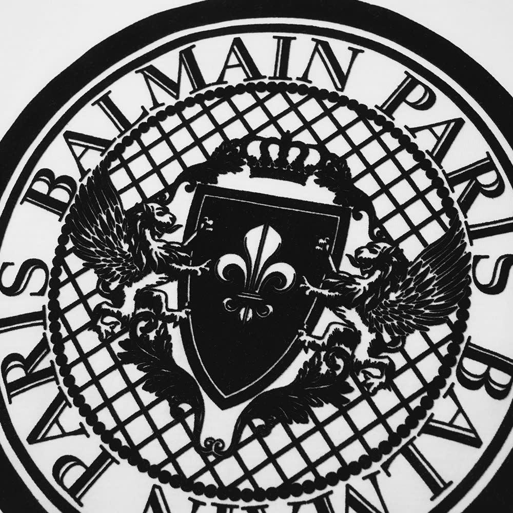 Balmain Flocked Coin Tee - White & Black