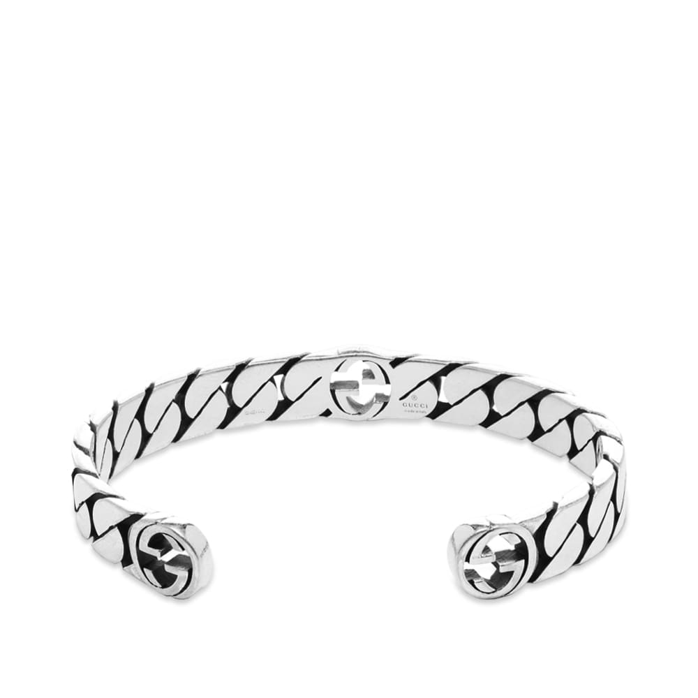 Gucci Interlocking G Rigid Bracelet - Aged Sterling Silver