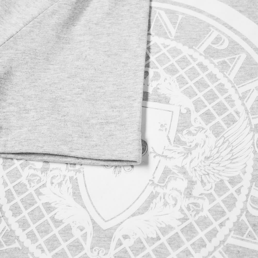 Balmain Flocked Coin Tee - Grey & White