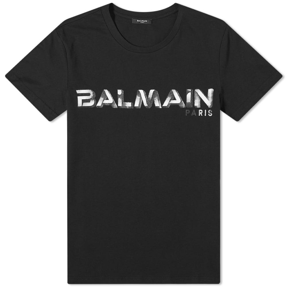 Balmain Logo Tee - Black & White