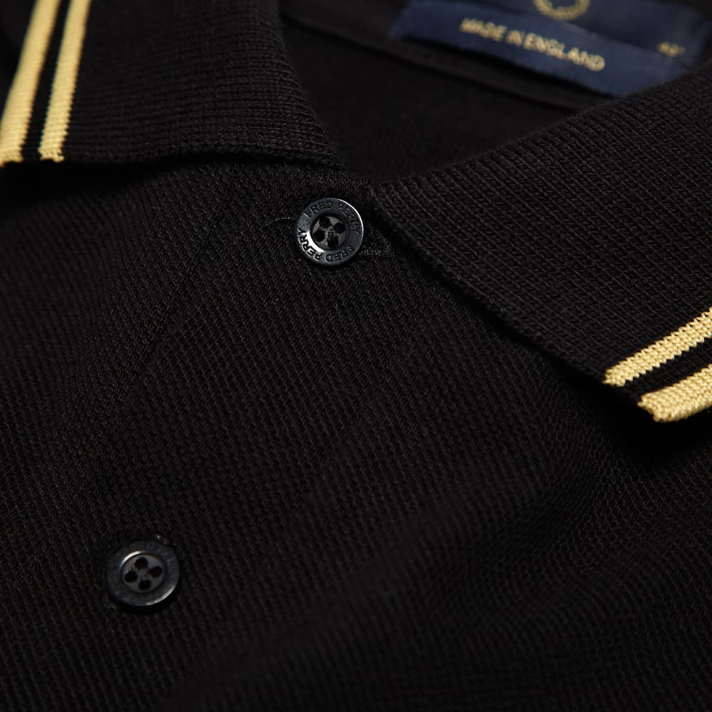 Fred Perry Twin Tipped Polo - Black & Champagne