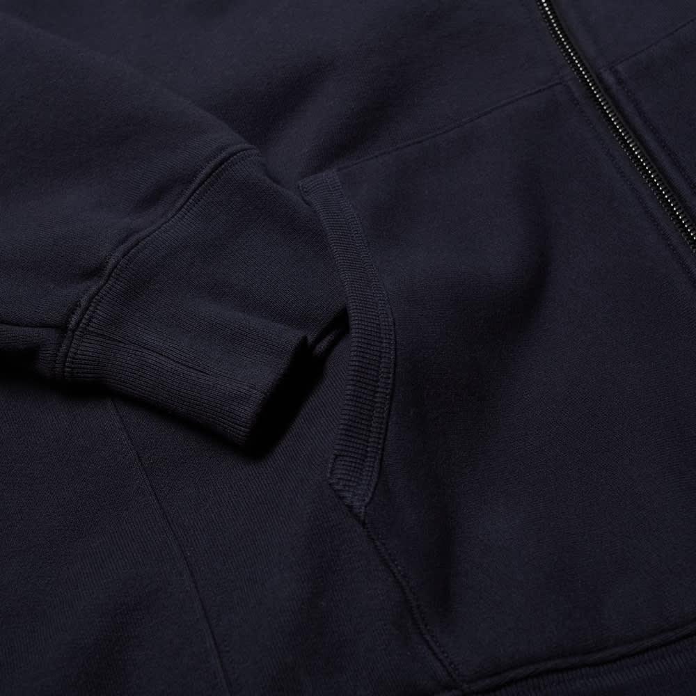 7 Moncler FRGMT Hiroshi Fujiwara Chest Logo Zip Hoody - Navy & Black