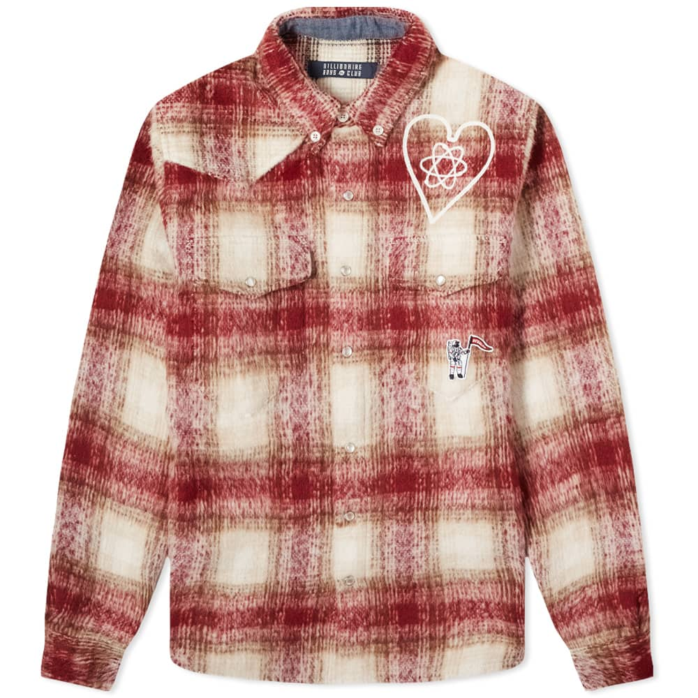 Billionaire Boys Club Brushed Check Overshirt - Red