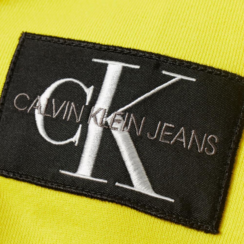 Calvin Klein Monogram Sleeve Badge Hoody - Bright Sunshine