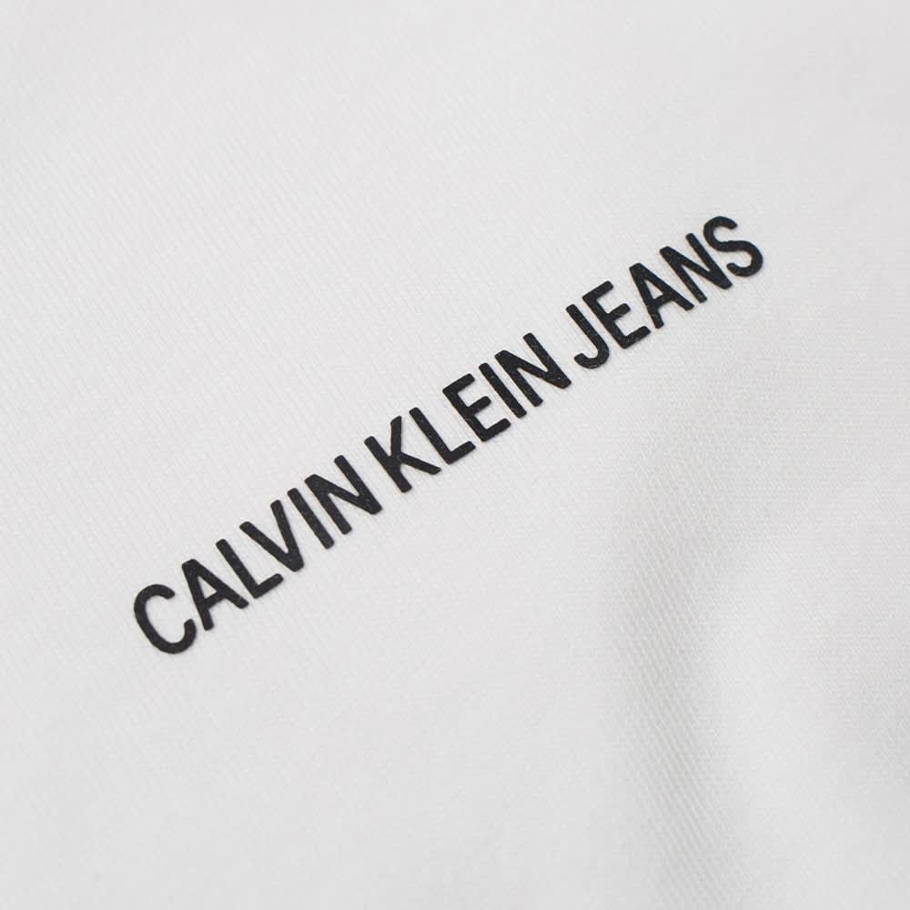 Calvin Klein Micro Branding Essential Tee - Bright White
