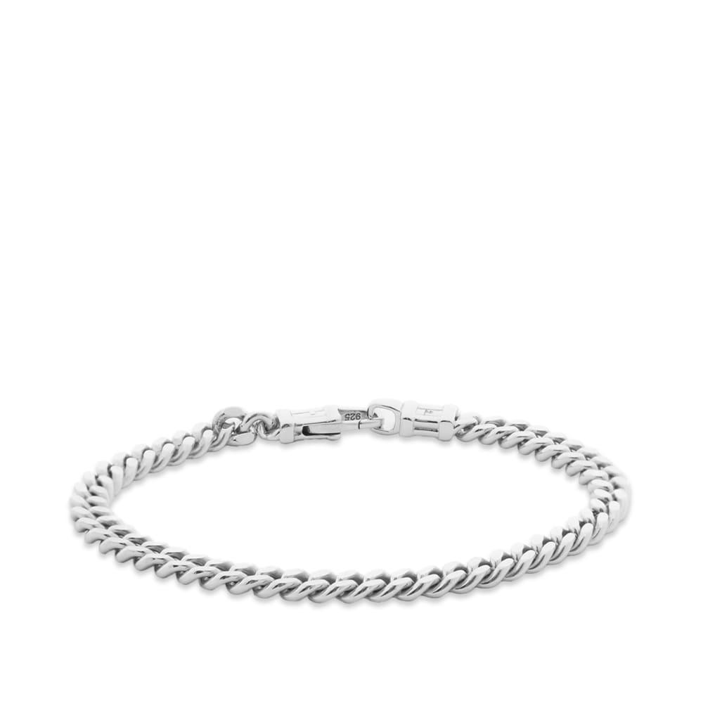 "Tom Wood 7"" Curb Bracelet L - Silver"